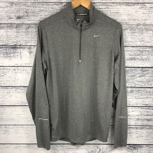 NWOT Nike Grey Dri-Fit 1/4 Zip Up Pullover Running